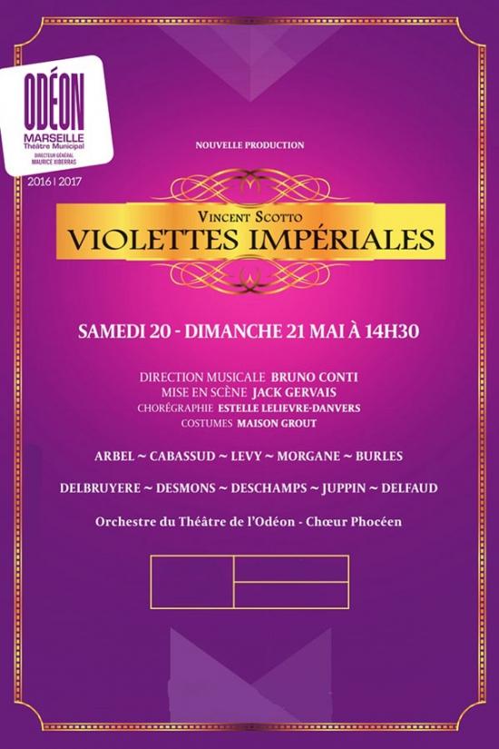 violettes imperiales l 39 odeon marseille marseille 01 13001 sortir france le parisien. Black Bedroom Furniture Sets. Home Design Ideas