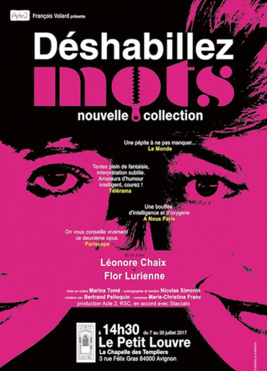 Deshabillez mots festival avignon off 2017 petit - Avignon off 2017 programme ...