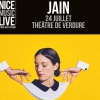 affiche JAIN + INVITE - NICE MUSIC LIVE BY NJF