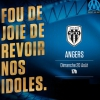 affiche OLYMPIQUE DE MARSEILLE / ANGERS SCO - LIGUE 1 CONFORAMA - 3EME JOURNEE