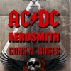 affiche LEGENDS OF ROCK - LES MEILLEURS D'ACDC-AEROSMITH-GUNS