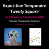 "affiche Exposition d'Art Contemporain ""Twenty Square"""